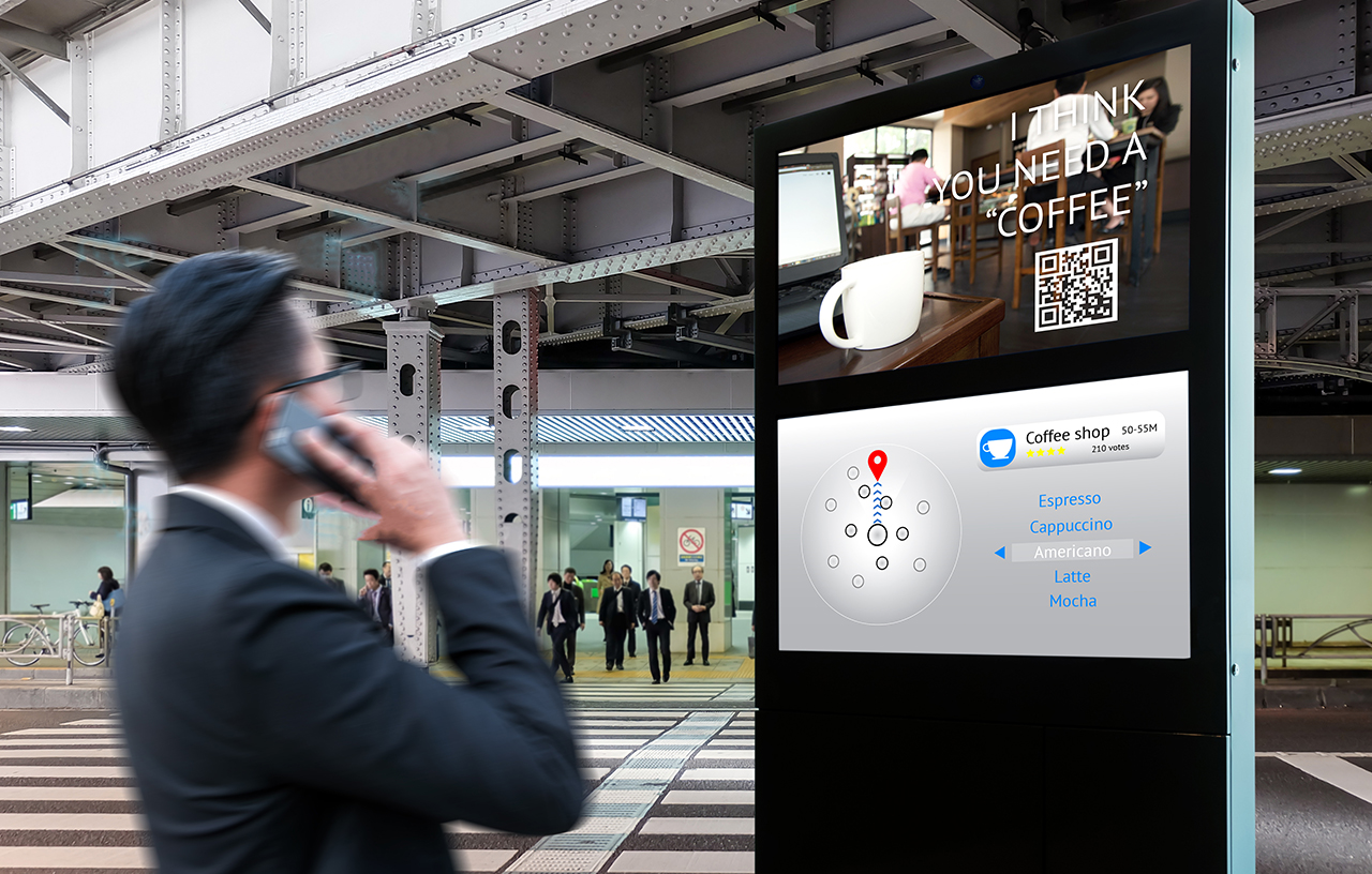 Intelligent Digital Signage and Augmented reality marketing