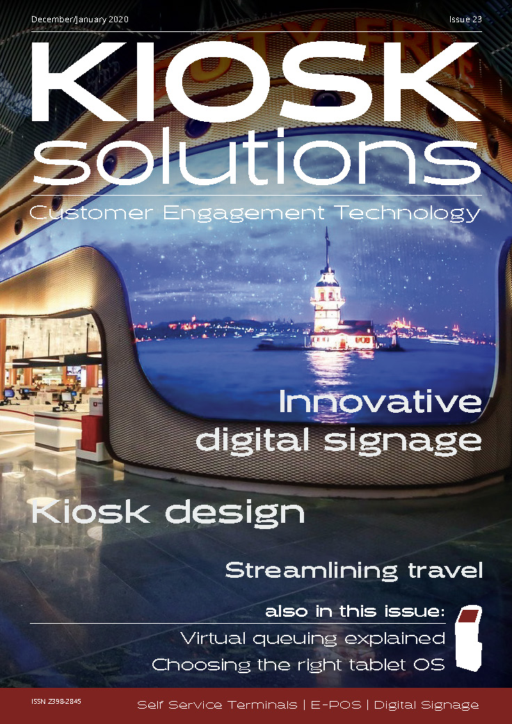 Kiosk Solutions Magazine, December 2019 - January 2020 Issue (front cover)