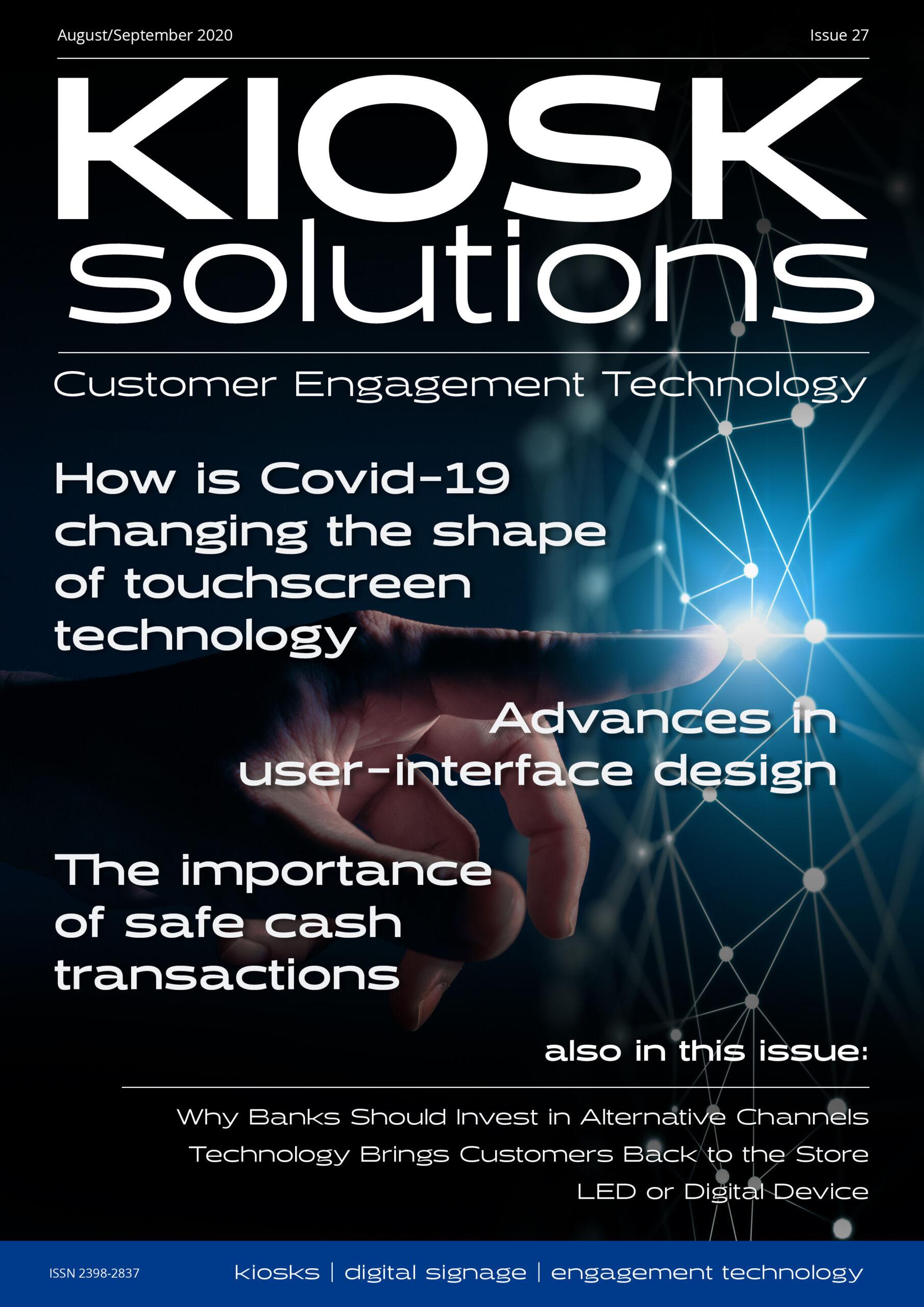 Kiosk Solutions Magazine, August - September 2020 Issue (front cover)