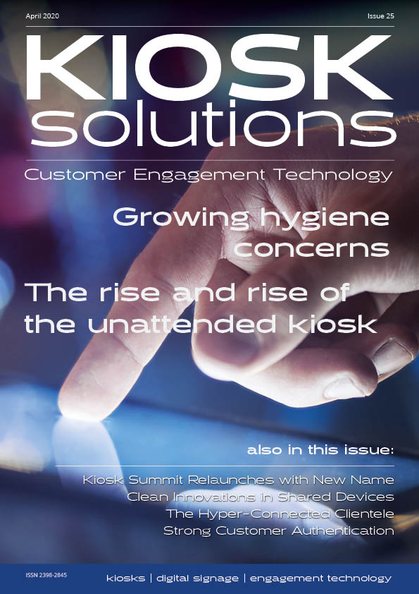 Kiosk Solutions Magazine, April - May 2020 Issue (front cover)
