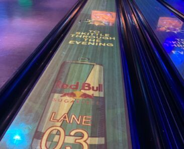 The experiential projection system at Manchester's Printworks venue, part of the Tenpin family