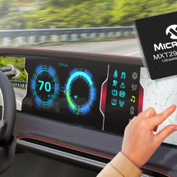 First Automotive-Qualified, Single-Chip Solution for Large, Ultrawide Touch Displays